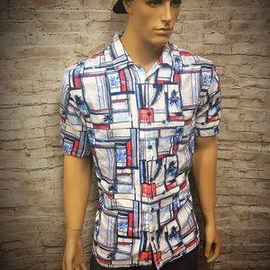 Men's Island Republic Rayon blend Beach Shirt XL
